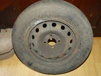 SPARE WHEEL STEEL 14 INCH PEUGEOT 4 STUD WITH GOOD TYRE
