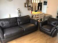 Leather Sofa & Chair Great used condition