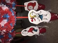 Dr Seuss: Cat in the Hat Centerpieces - 5 handmade