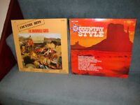 Two Country vinyl LPs