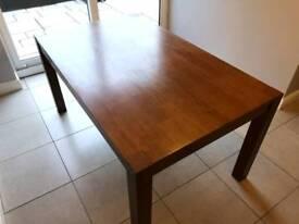 Dining table dark oak walnut