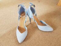 New Look baby blue heels size 5