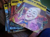 34 copies of World of Wonder magazines 1971-1972