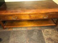 Solid jarvan teak wooden coffee table
