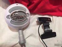 Blue snowball mic + hp 4310 webcam