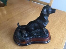 Labrador resin statue