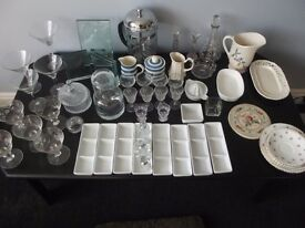 Collection Of Household Items Glass Pottery Etc.
