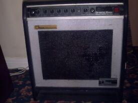 OHM 60 watt Graphic bass amplifier with 15inch speaker.