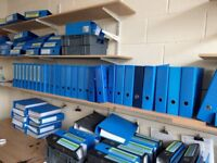 50 Blue Lever Arch Binder Files for Office College University Paperwork Organiser A4 80mm