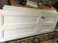 Original Victorian doors with handles and hinges white painted