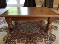 Small Solid Pine Coffee Table