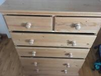 Pine chest of drawers 4+2