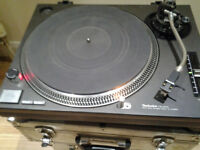 Technics Quartz SL-1210 MK2 DJ Turntable Record Player Black