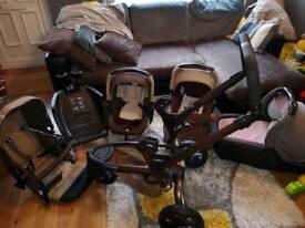 Pushchair Jane +isofix car seat