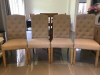 Padded Dining Chairs x 4