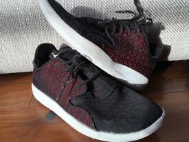 Kids NIKE Jordans black red shoes USED UK 5.5 - £15