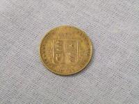 Half sovereign Victorian coin, jubilee head 1892
