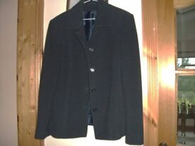 Navy wool and cashmere jacket.
