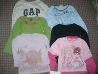 Bundle of 6 long sleeve tops/t-shirts for girl 4-5 years old. In good condition.