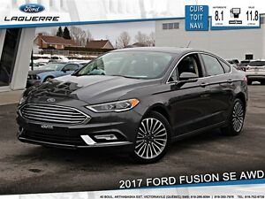 2017 Ford Fusion **SE*AWD*CUIR*TOIT*NAVI*A/C 2 ZONES*