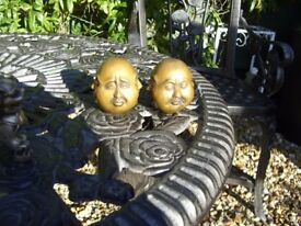 old bronze antique budda faces