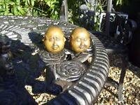 old bronze antique budda faces