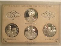 H.M. Queen Elizabeth The Queen Mother 1900-1980 medallion set in a case