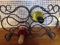 Metal wine rack Metal Wine Rack - Great condition. Black in colour