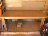 Pine dining table in great condition, seats 6-8