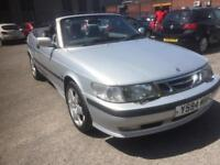 2001 saab 93 se auto 66 k mls 1 off convertible leather ac cd power roof bargain