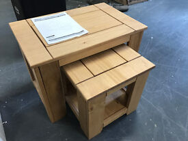 Penton Solid Pine Wood Nest Of Tables