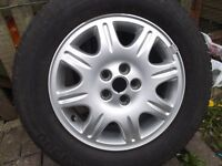 pirelli rover 75 ally wheel and trye 205 65 r15
