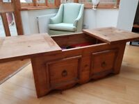 Pine Chest with sliding top