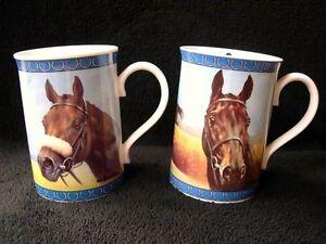 2 RACE HORSE RACING DANBURY MINT MUGS ARKLE & RED RUM NEW RRP £30