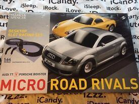 CLASSIC Marks & Spencers Scalextric Set - Audi TT & Porsche Boxster - 2 Player