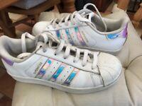 Adidas Superstar hologram trainers
