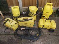 6 x karcher pressure washer joblot