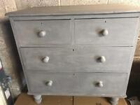 Antique Victorian Pine Chest of Drawers (Can Deliver)