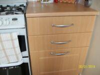 Beech effect kitchen cupboard doors