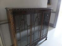 Edwardian Display Cabinet with 2 glass shelves, excellent quality and in nice condition