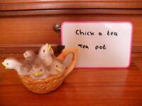 Ceramic chick a tea teapot