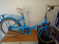 Raleigh solitaire retro blue ladies / girls bike