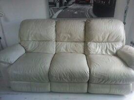 Three seater recliner sofa (Furniture Village)
