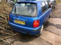 NISSAN MICRA 5 DOOR BLUE AUTOMATIC LADY OWNER CAR