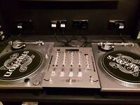Stanton STR8-100 Vinyl Turntables and Kam KC350 4 channel mixer