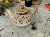 Fosters Pottery Cream Honeycomb Teapot