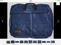 Large Blue Canvas CARRY ALL Craft Art Quilting Carryall Bag/Organiser