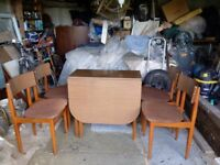 Retro 60s Dining Table & Chairs