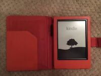 "Kindle E-reader, 6"" Glare-Free Touchscreen Display, Wi-Fi (Black) + case"