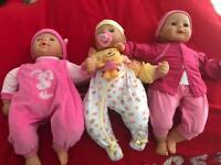 3 baby dolls